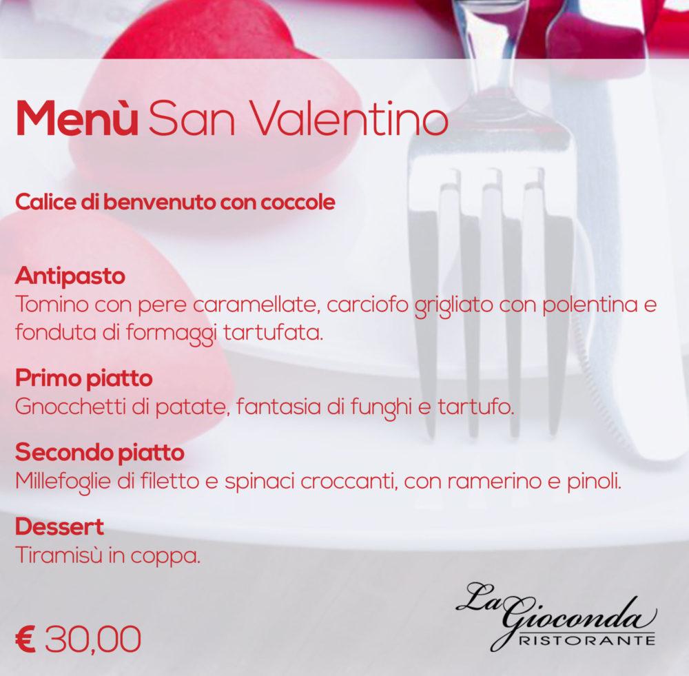 San Valentino al ristorante La Gioconda